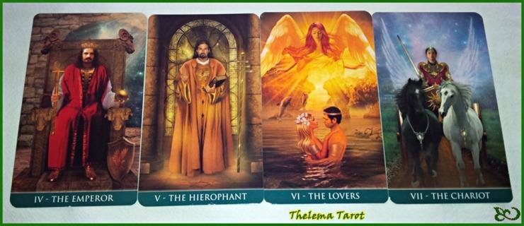 Thelema Tarot Emperor Hierophant  Lovers Chariot